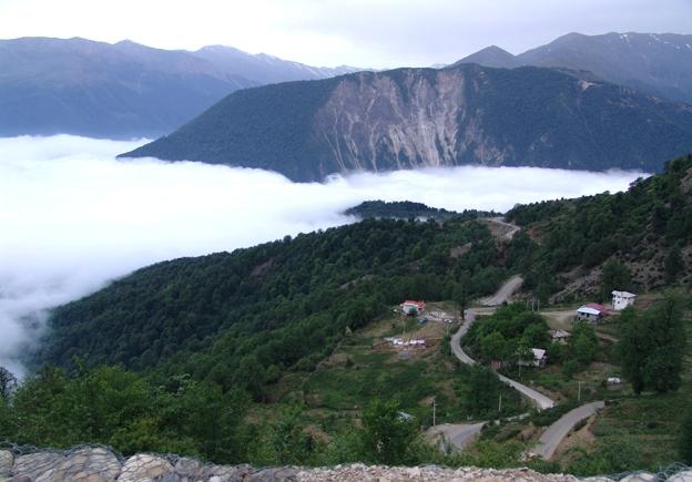 Javaher-deh Ramsar village above the cloud
