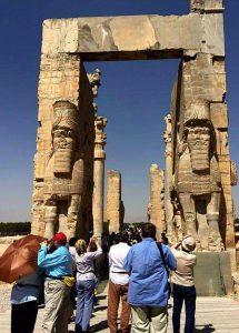 Shiraz - Persipolis palace in May warm season in Iran