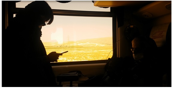 View from the window of a train from Tehran to Shiraz